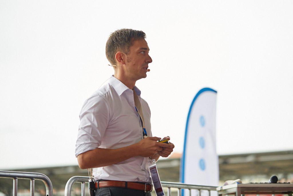 Dominik Lausch auf dem Investforum Pitch-Day 2017